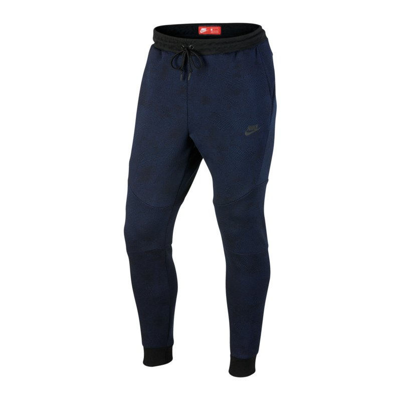 nike tech fleece jogger aop hose lang blau f408. Black Bedroom Furniture Sets. Home Design Ideas