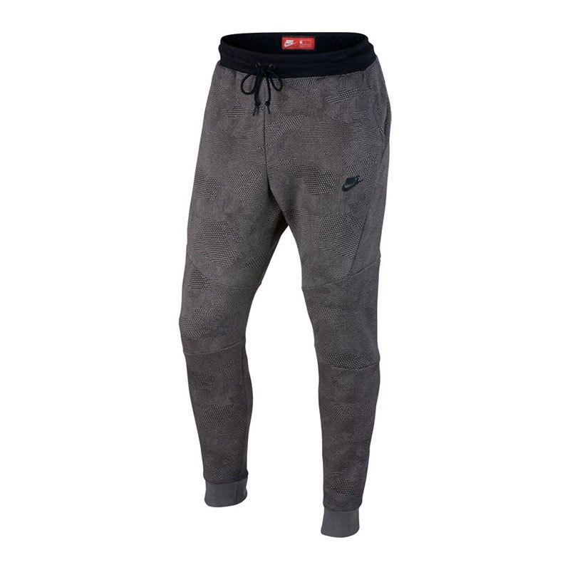 nike tech fleece jogger aop hose lang grau f010. Black Bedroom Furniture Sets. Home Design Ideas