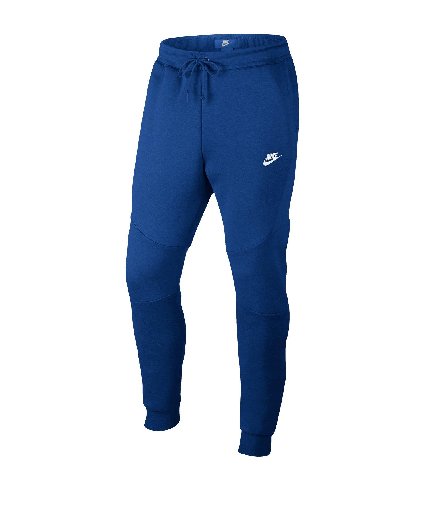 echt kaufen Verkauf Einzelhändler klare Textur Nike Tech Fleece Jogginghose Blau Weiss F438