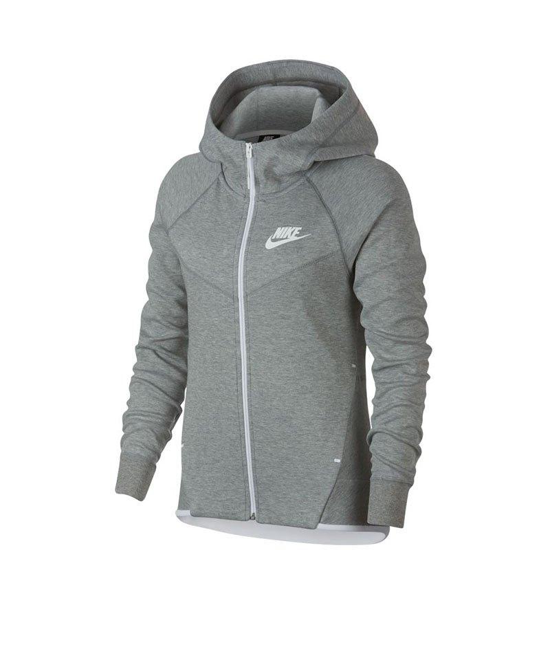 Nike Tech Fleece Kapuzenjacke Damen Grau F063 | Lifestyle | Freizeit ...