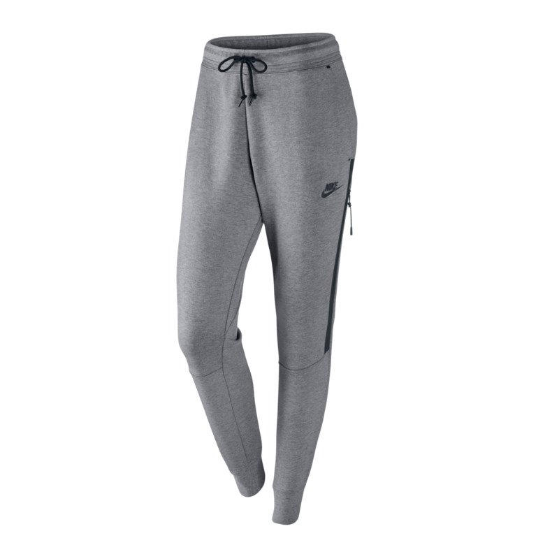 nike tech fleece pant hose lang damen grau f091 jogginghose freizeithose lifestyle damen. Black Bedroom Furniture Sets. Home Design Ideas