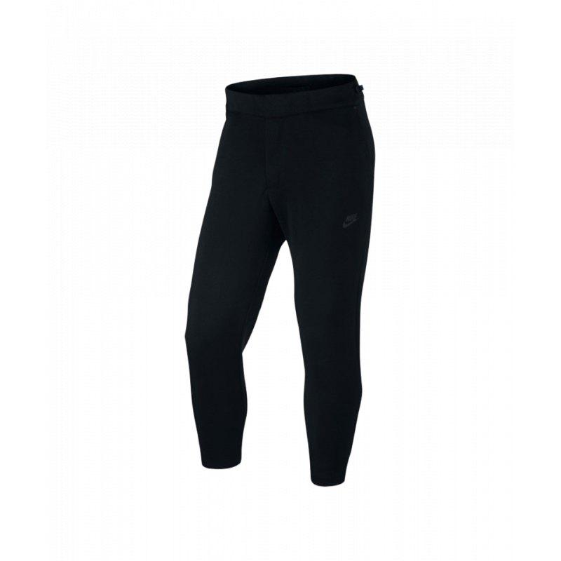 Nike Tech Fleece Pant Hose lang Schwarz F010 - schwarz