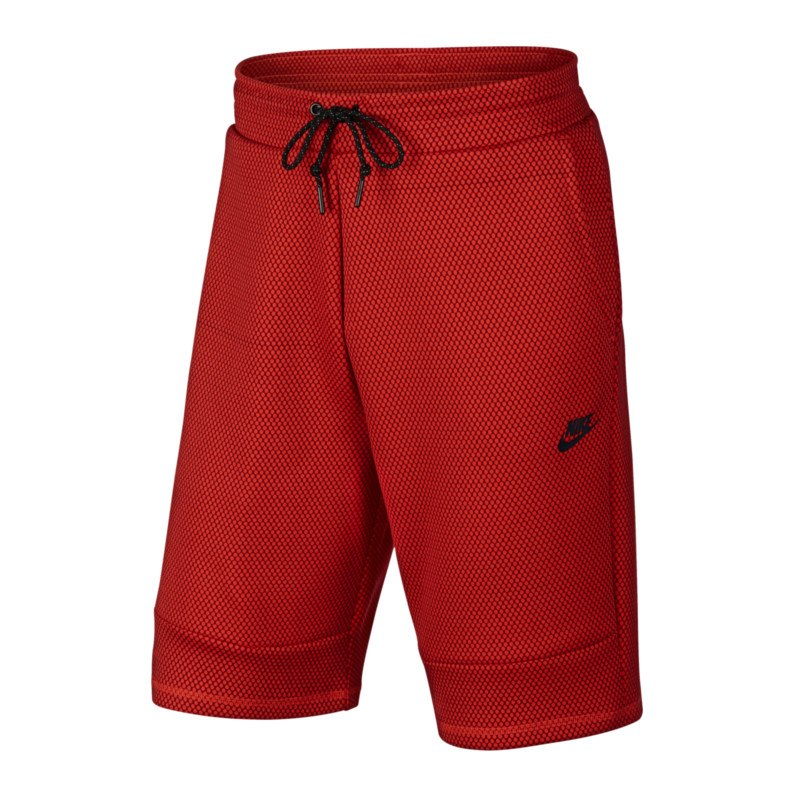 nike tech fleece short hose kurz rot f657 lifestyle. Black Bedroom Furniture Sets. Home Design Ideas