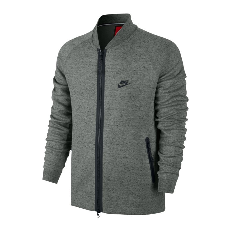nike tech fleece varsity jacket jacke grau f037 herren. Black Bedroom Furniture Sets. Home Design Ideas