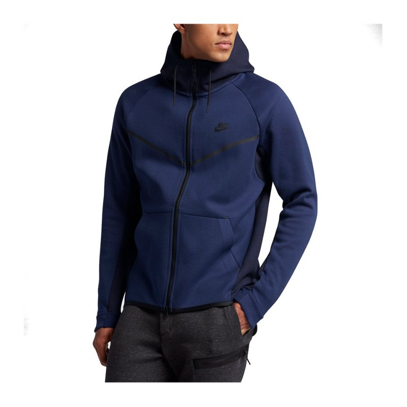 nike tech fleece windrunner aop jacke blau f429 langarm. Black Bedroom Furniture Sets. Home Design Ideas