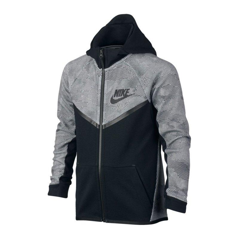 Nike Tech Fleece Windrunner Jacke Kids F010 - schwarz