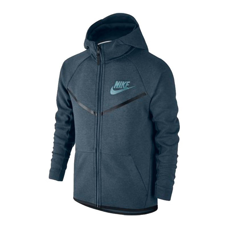 Nike Tech Fleece Windrunner Kapuzenjacke Kids F464 - blau