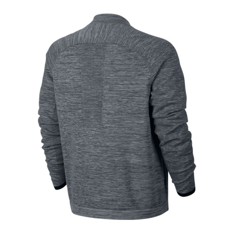 nike tech knit bomber jacke grau schwarz f065 lifestyle. Black Bedroom Furniture Sets. Home Design Ideas