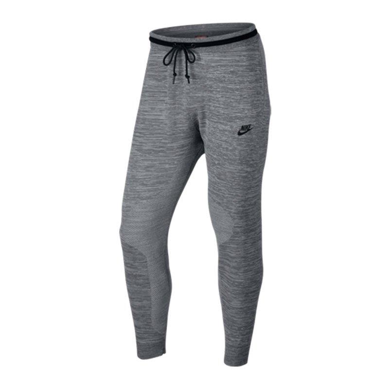 nike tech knit jogginghose grau schwarz f065 pant hose. Black Bedroom Furniture Sets. Home Design Ideas