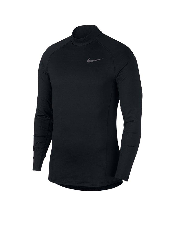 6cb75449ca00 Nike Therma Longsleeve Mock Schwarz F010   Underwear ...