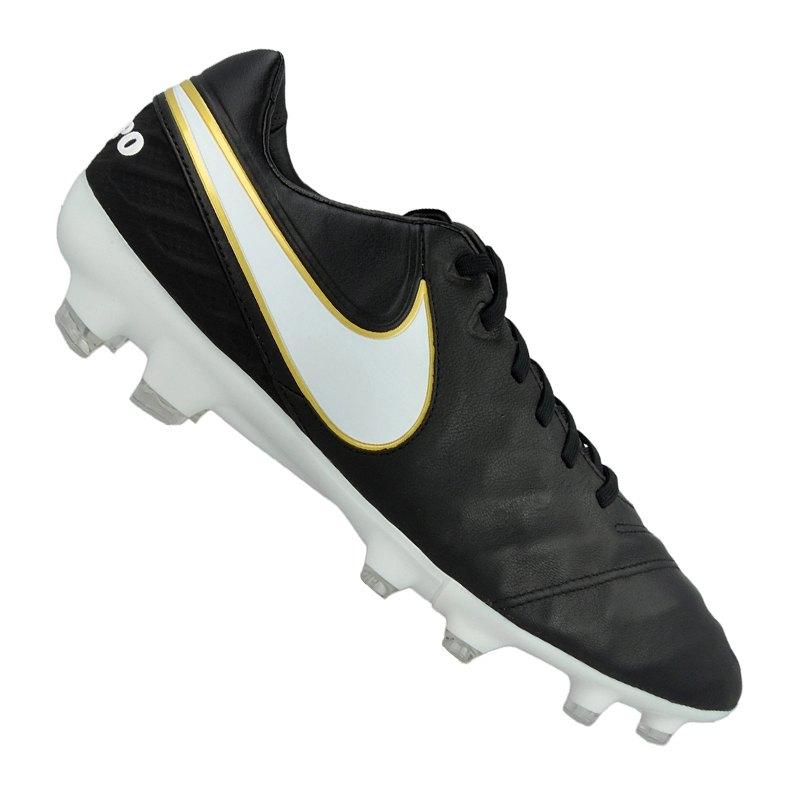 on sale d69de fea4d Nike Tiempo Legacy II FG Schwarz Weiss F010 | Fussballschuh | Leder ...