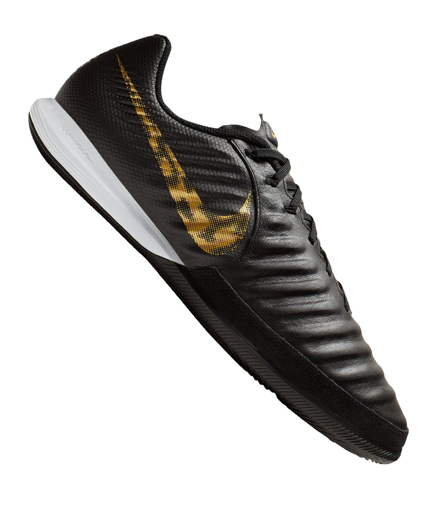 f65de13028f5 Nike Tiempo LegendX VII Pro IC Schwarz Gold F077  Indoorschuh ...