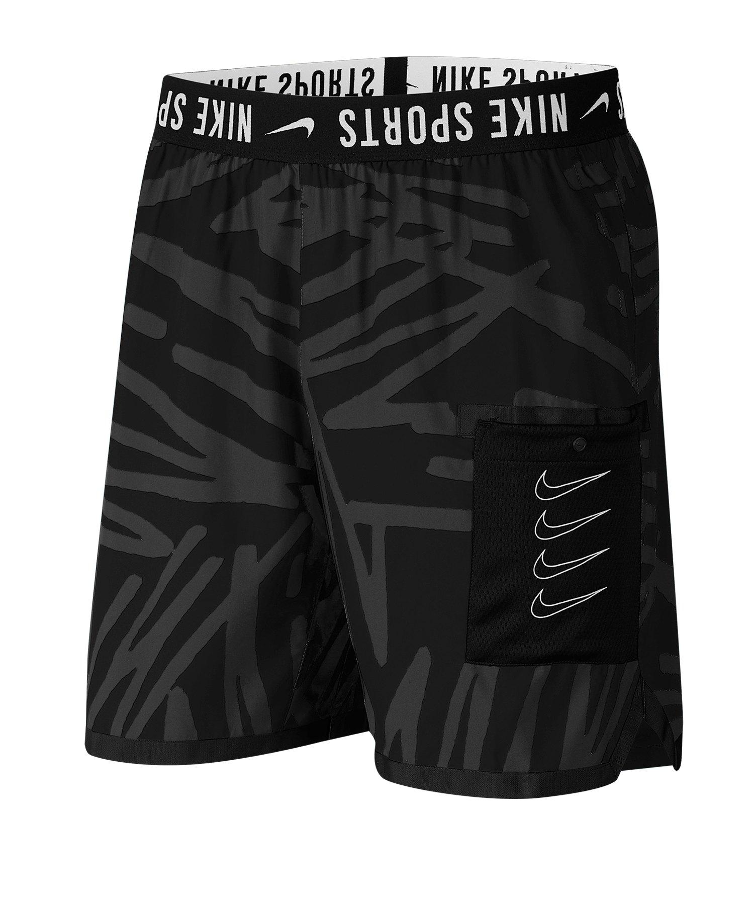 nike dry training short schwarz grau f010