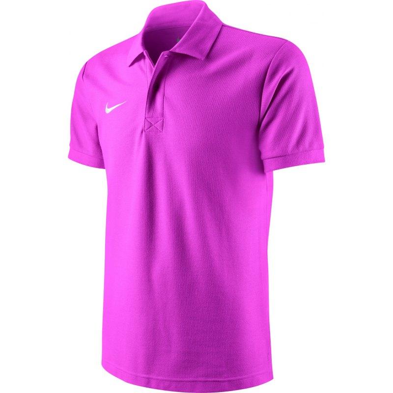 Nike TS Core Poloshirt Mens Polo Pink F602 - pink