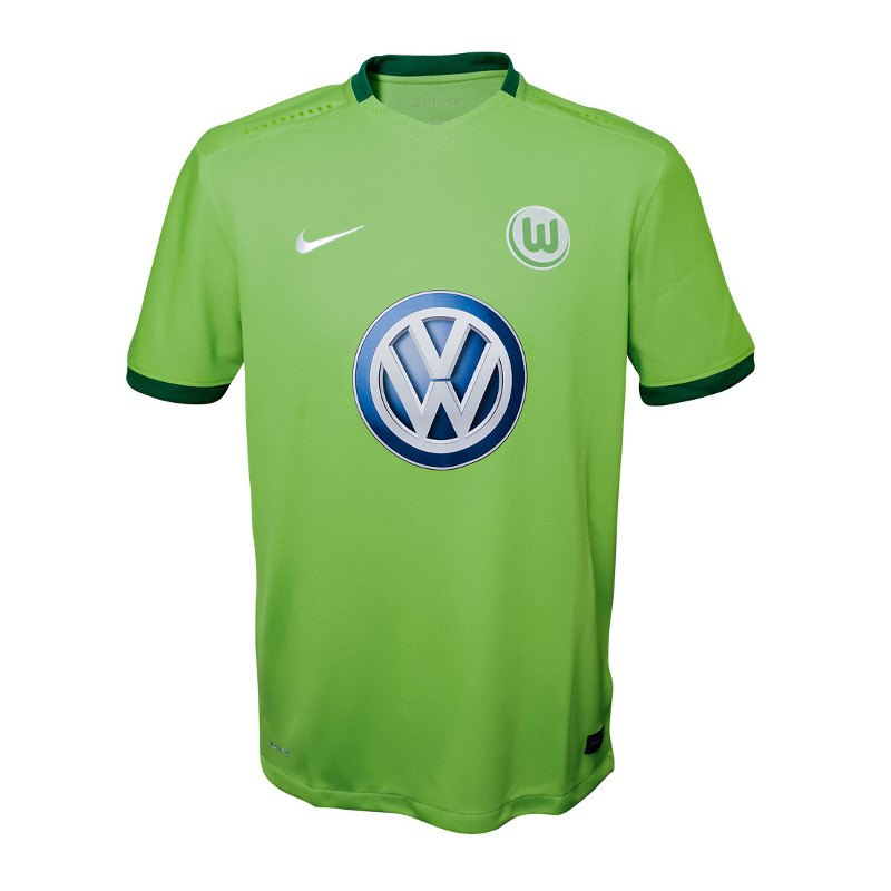 nike vfl wolfsburg trikot home kids 2016 2017 heim kinder spielkleidung bundesliga. Black Bedroom Furniture Sets. Home Design Ideas