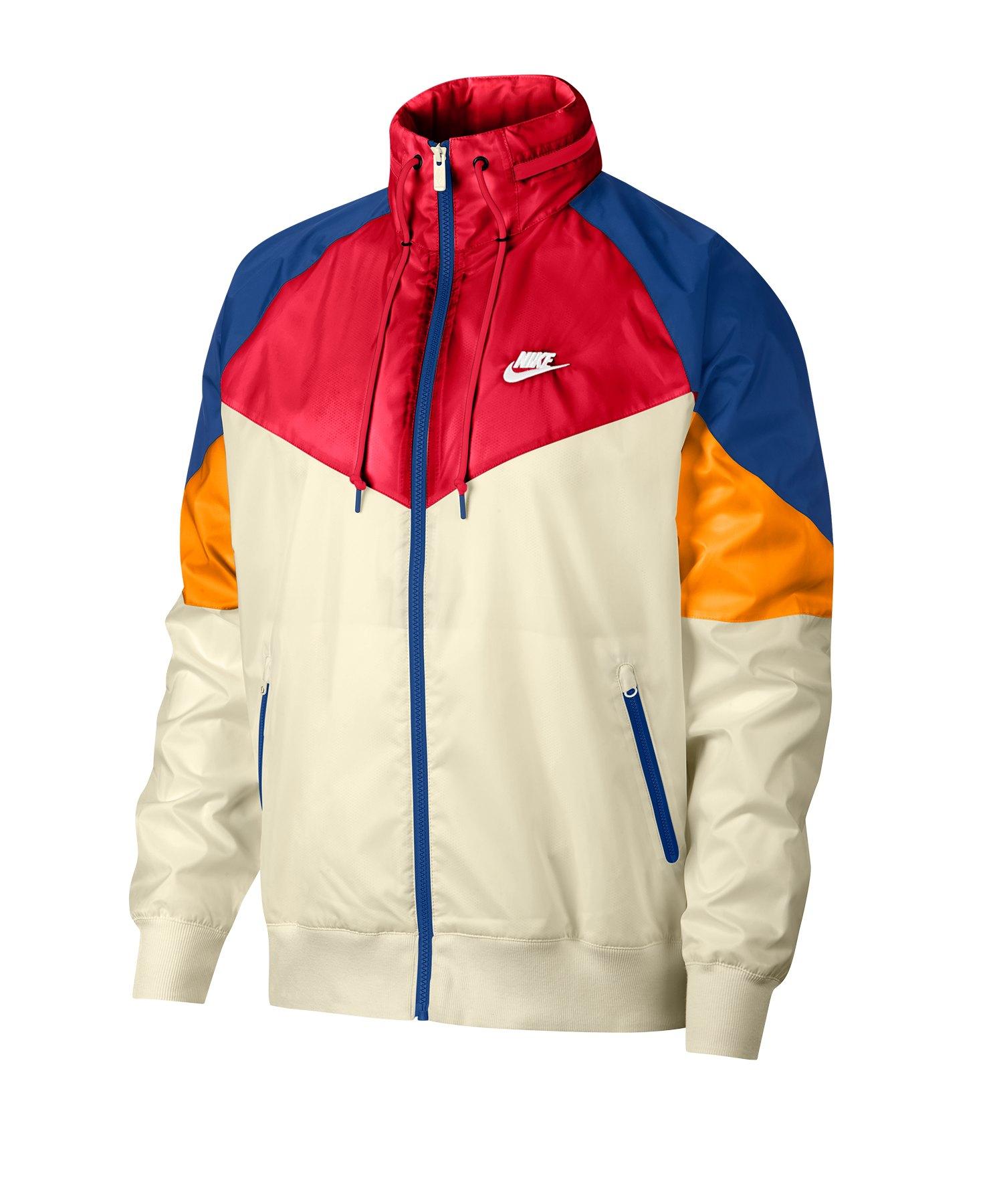 Nike Windrunner Jacke Beige Rot Blau F271