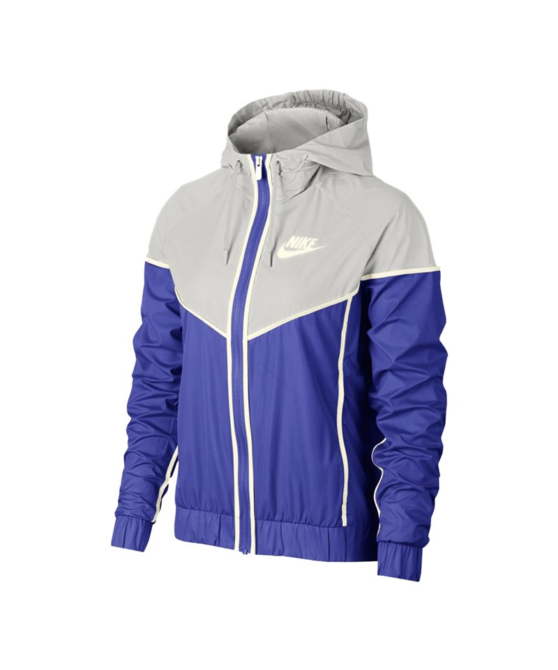 new product 8eb45 728f5 Nike Windrunner Jacket Jacke Damen Blau Grau F518
