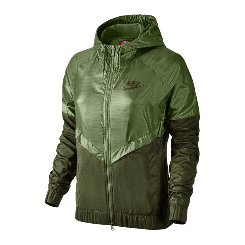 nike windrunner jacket jacke damen gr n f387 frauenbekleidung woman freizeit lifestyle. Black Bedroom Furniture Sets. Home Design Ideas
