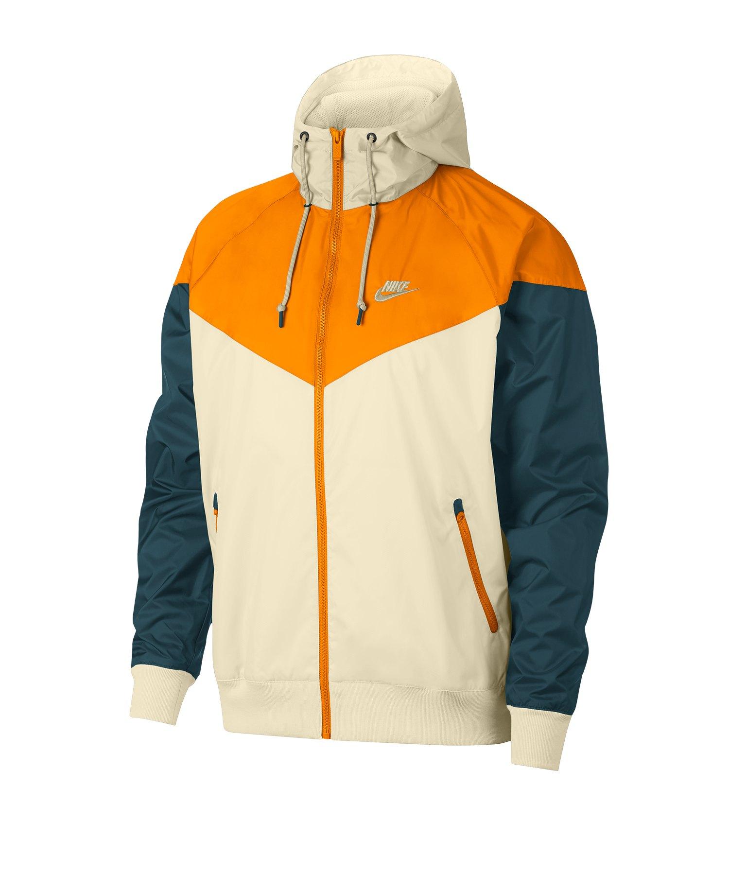 Nike Windrunner Kapuzenjacke Beige Orange F271