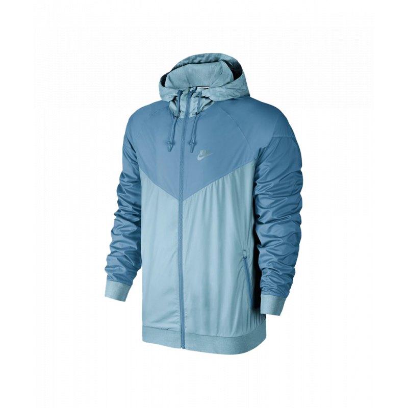 b7705de79714 Nike Windrunner Kapuzenjacke Blau F461 - blau