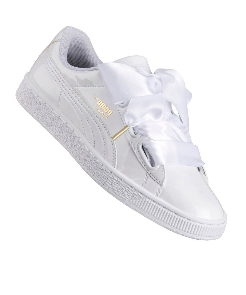 puma basket heart patent sneaker damen f02 weiss. Black Bedroom Furniture Sets. Home Design Ideas