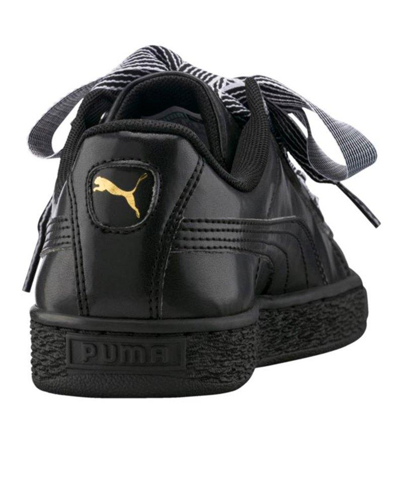 PUMA Basket Heart Sneaker Damen Schwarz F01