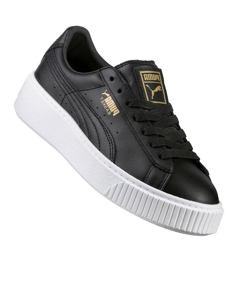 Puma Sneaker Damen Basket Platform Core Schwarz