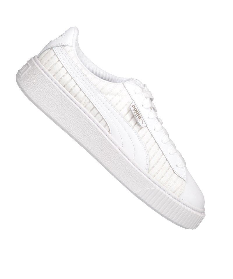 designer fashion eaea4 da486 PUMA Basket Platform EP Sneaker Damen Weiss F01