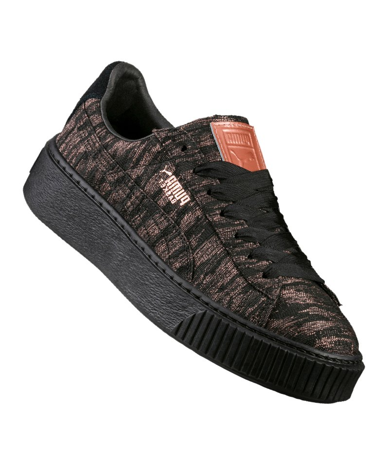 Schuhe Damen Puma BASKET PLATFORM VR SNEAKER Damen schwarz