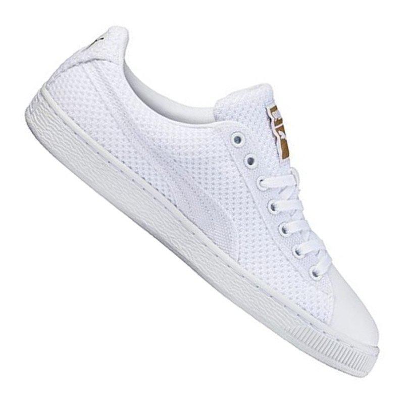 puma basket tech sneaker weiss gold f03 herrenschuh m nner men freizeit lifestyle. Black Bedroom Furniture Sets. Home Design Ideas