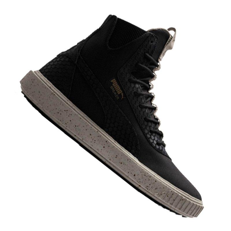 PUMA Breaker Hi Blocked Sneaker Schwarz Grau F02   Freizeit ... 57eaf79c19