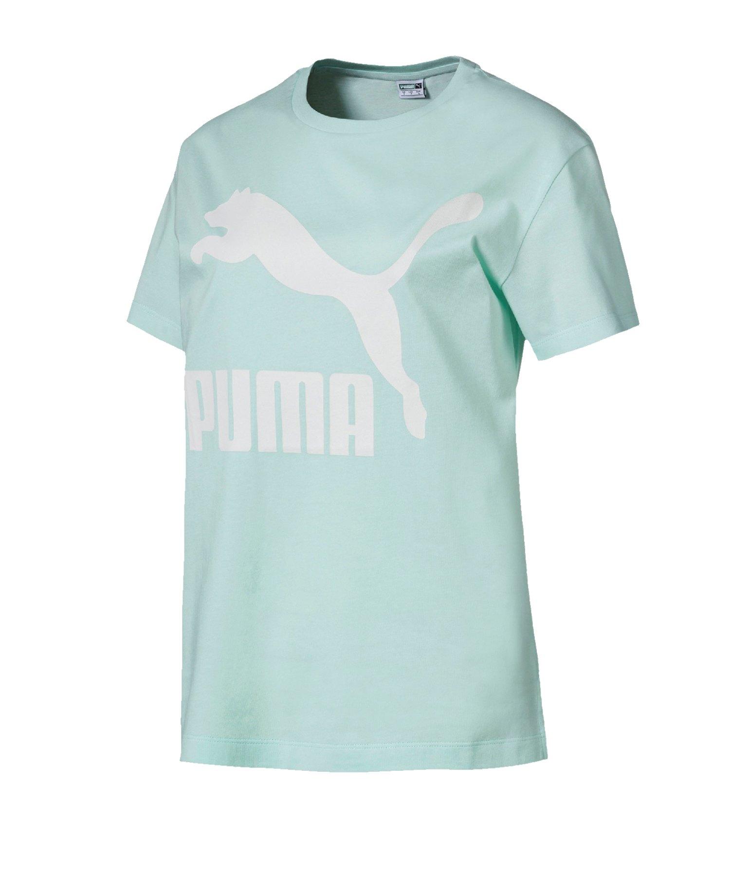 PUMA Classics Logo Tee T-Shirt Damen Blau F34