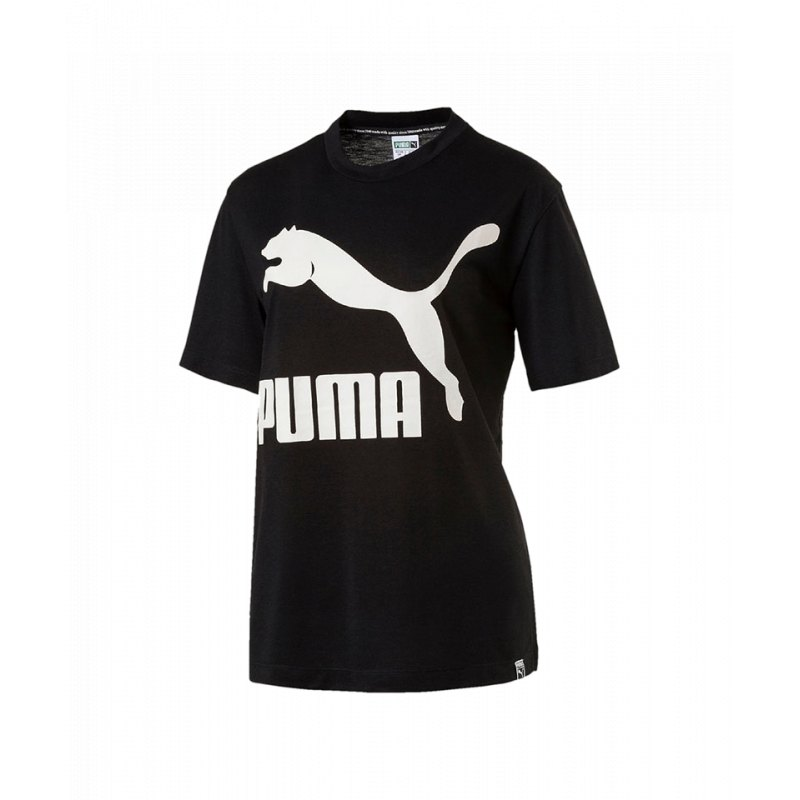 PUMA Classics Logo Tee T-Shirt Damen Schwarz F01