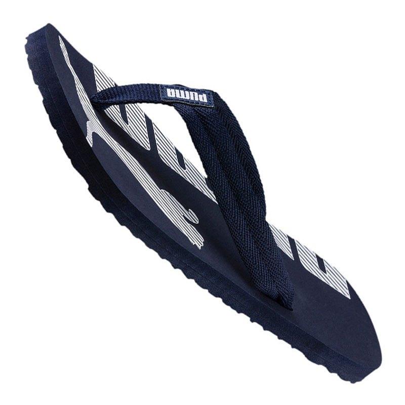puma flip flops blau