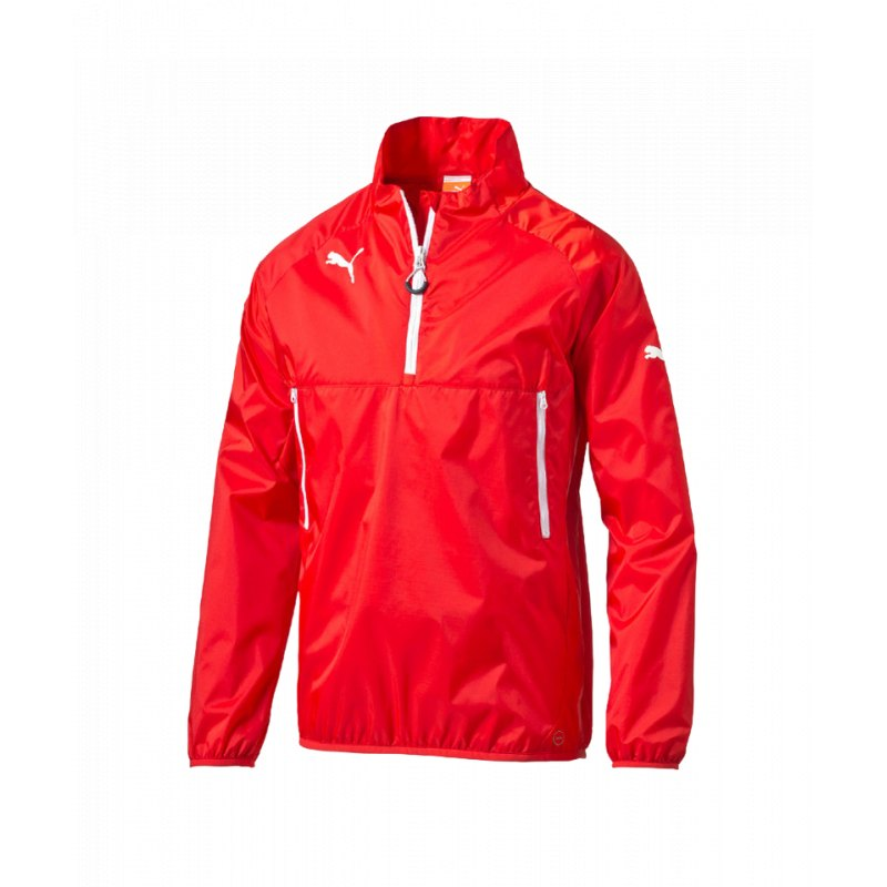 puma esito 3 windbreaker jacke rot weiss f01 jacket. Black Bedroom Furniture Sets. Home Design Ideas