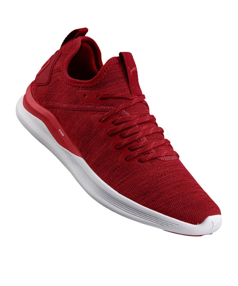 brand new 2e1d4 77af9 PUMA Ignite Flash evoKNIT Sneaker Rot F01