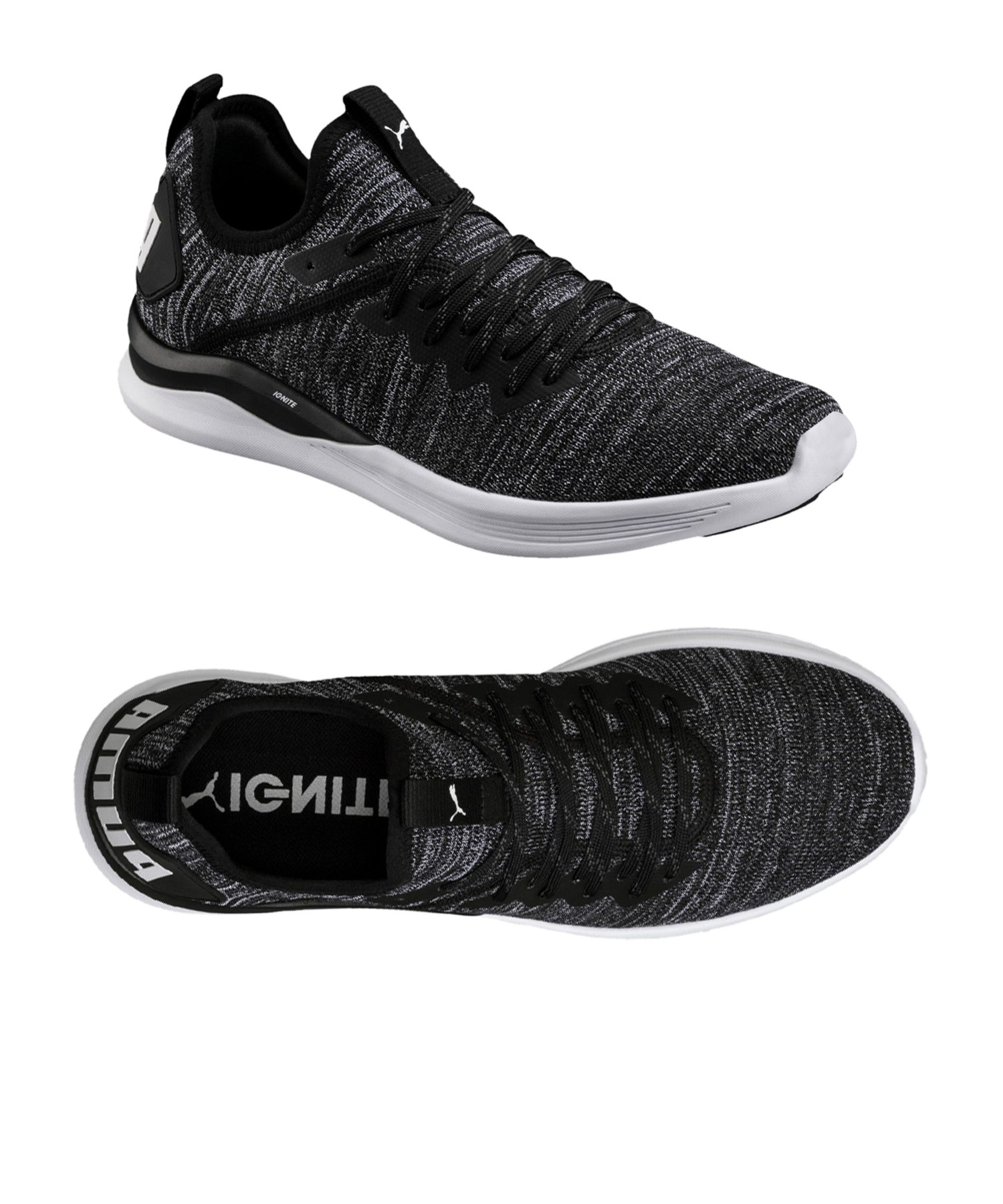PUMA Ignite Flash evoKNIT Sneaker Schwarz F02
