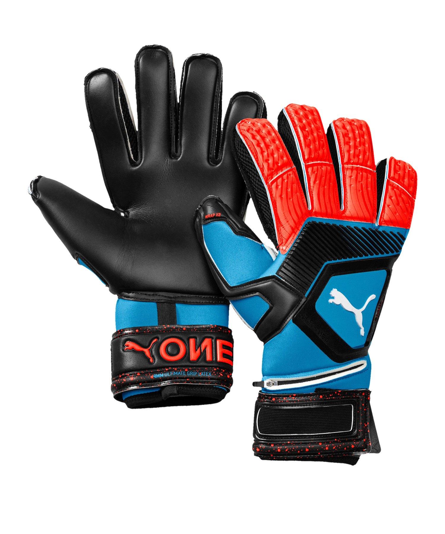 PUMA ONE Protect 1 Torwarthandschuh Blau Rot F21 - blau