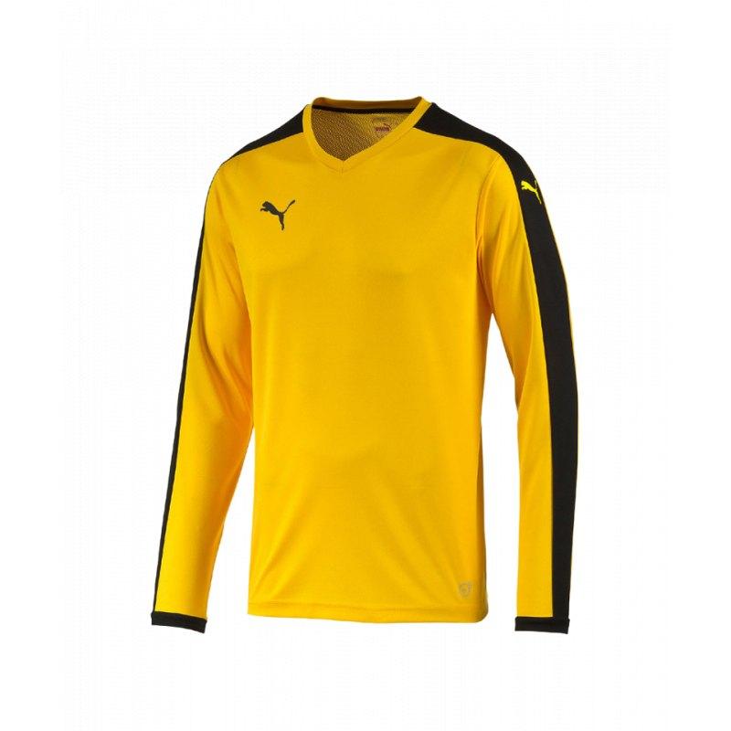 PUMA Pitch Longsleeved Shirt Trikot Gelb F07 - gelb