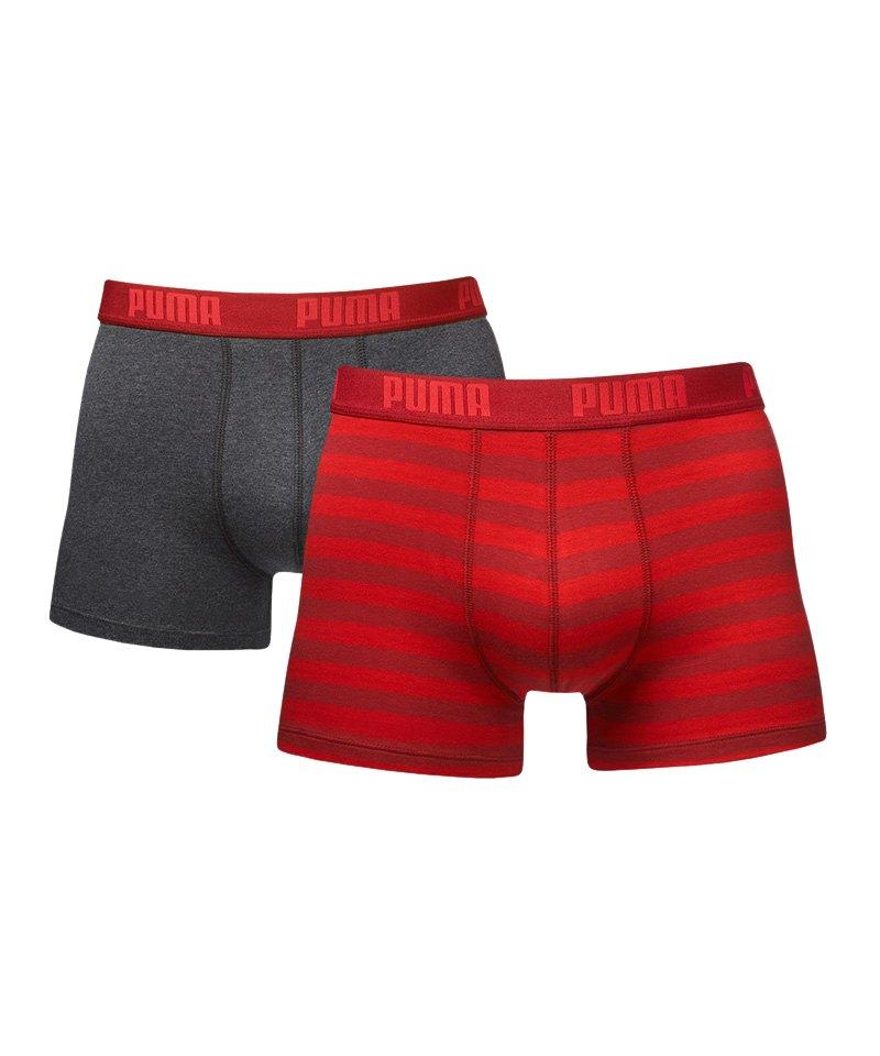 7a3911863844c PUMA Stripe Boxer 2er Pack Rot F072