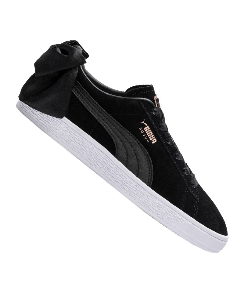 PUMA Suede Bow Sneaker Damen Schwarz F04