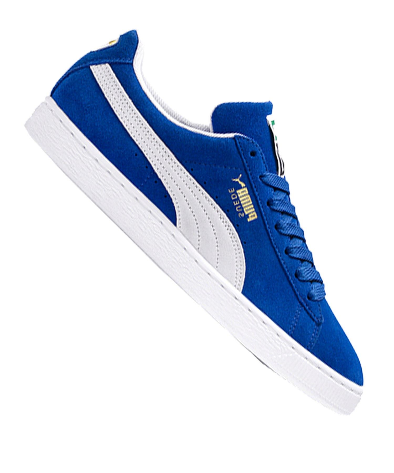 Puma Weiss Classic Sneaker F64 Blau Suede hsBtQrdxC