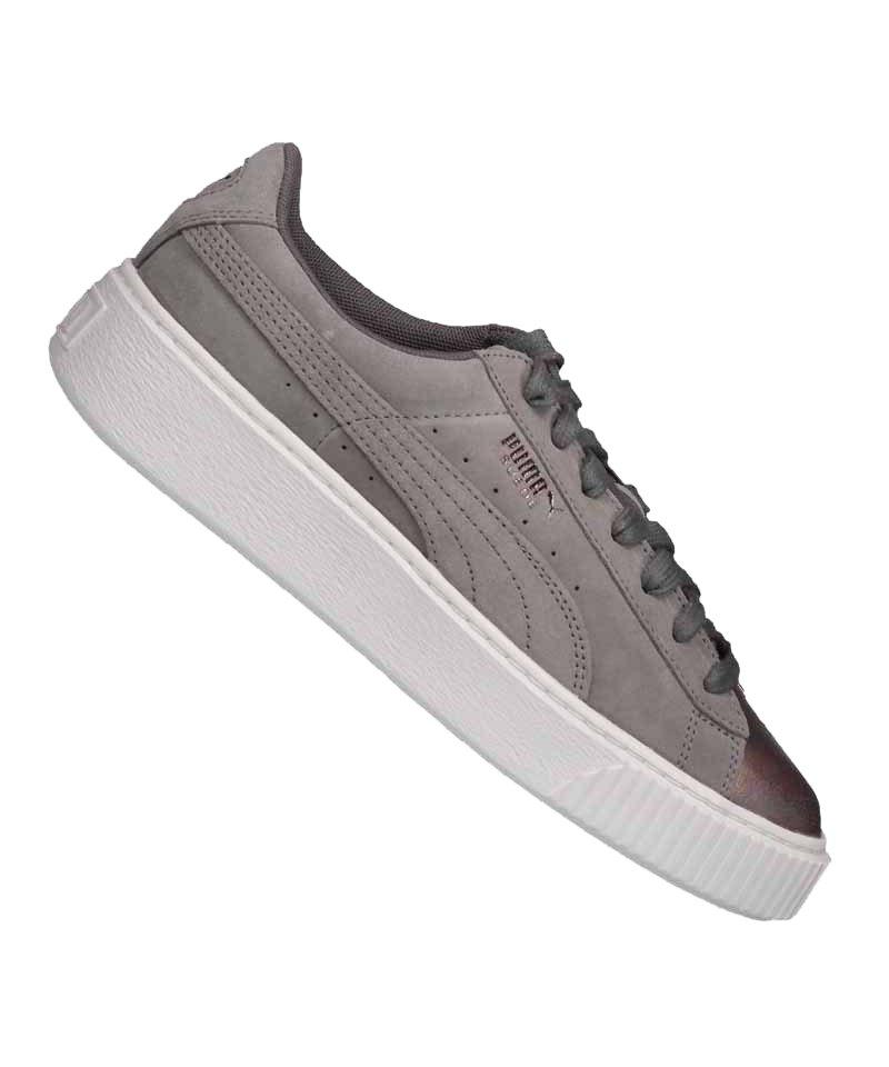 PUMA Suede Platform LunaLux Sneaker Damen Grau F01