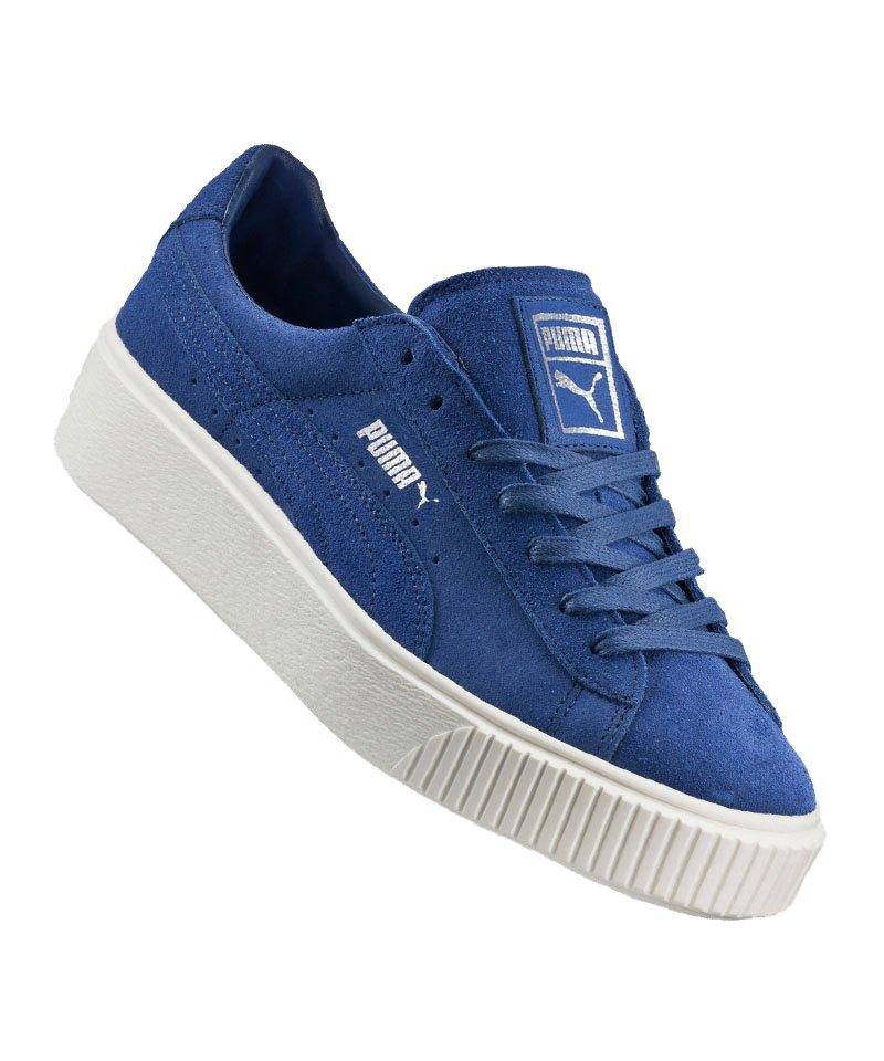 PUMA Suede Platform Sneaker Damen Blau F02