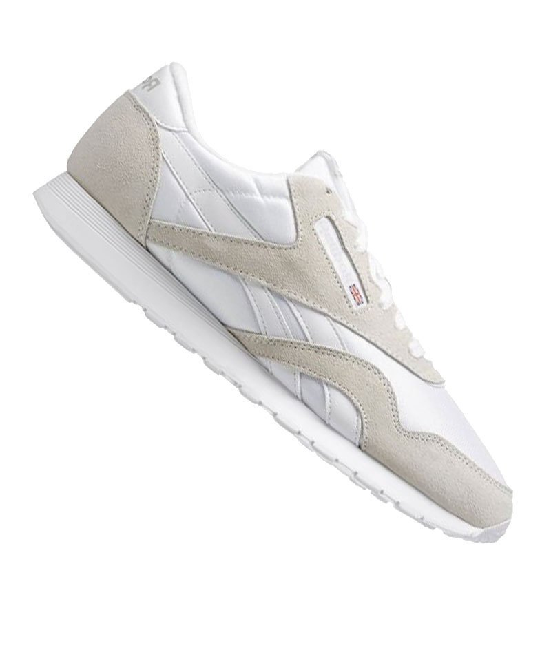 reebok classic nylon sneaker weiss beige weiss. Black Bedroom Furniture Sets. Home Design Ideas