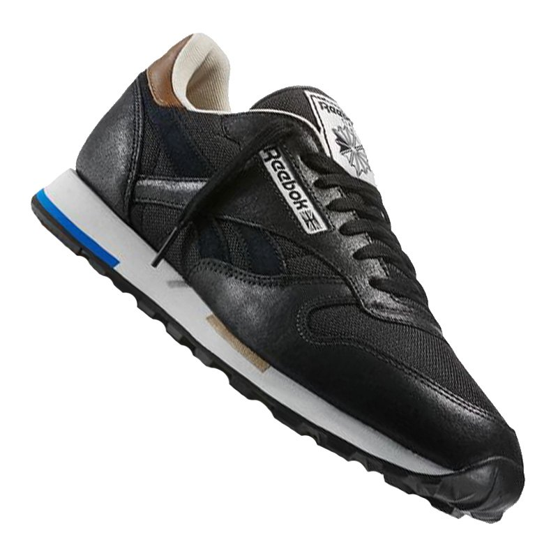 reebok classic leather casual sneaker schwarz. Black Bedroom Furniture Sets. Home Design Ideas