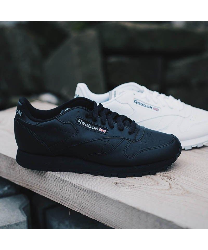 Reebok Classic Leather Sneaker Schwarz Herrenschuh Schuh