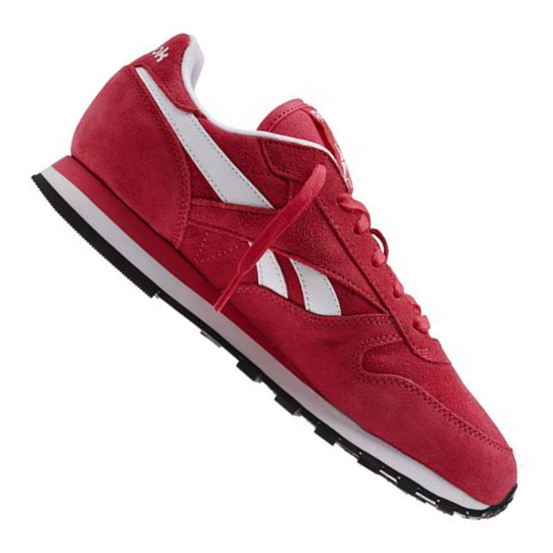 reebok classic leather suede sneaker wmns rot. Black Bedroom Furniture Sets. Home Design Ideas