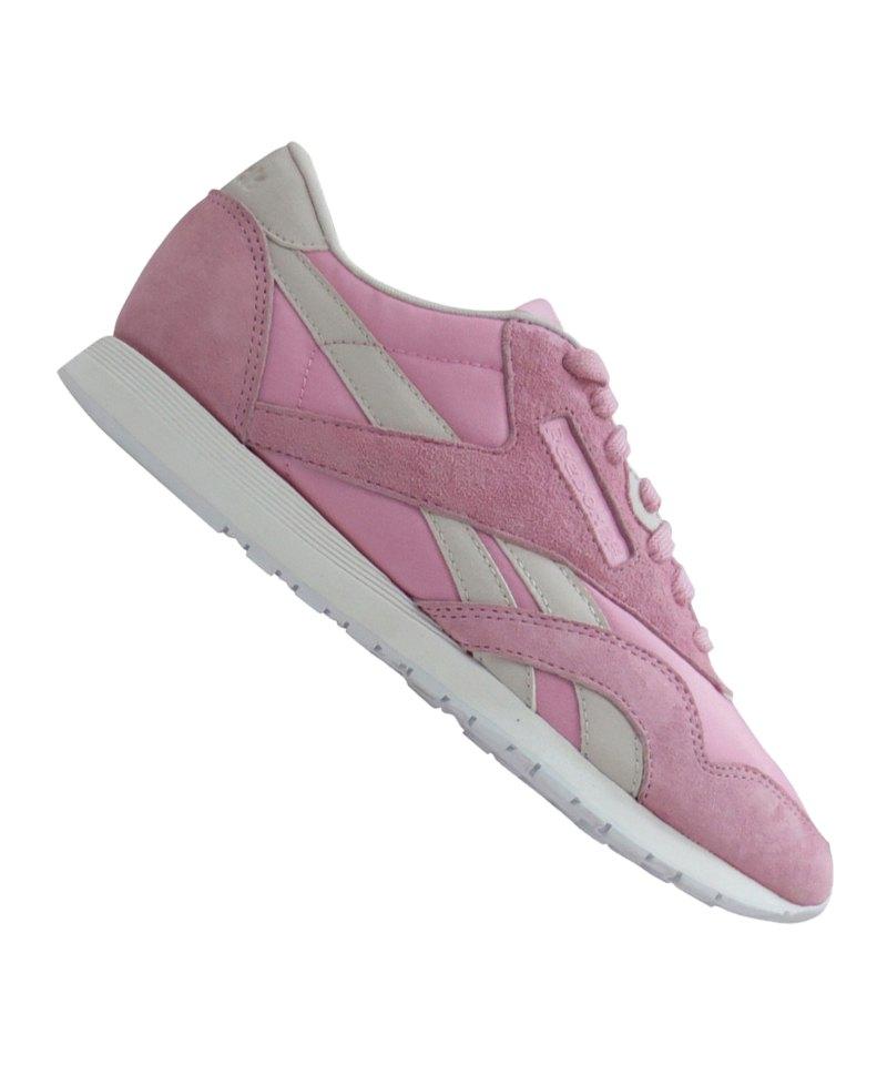 reebok classic nylon x face sneaker damen rosa lifestyle. Black Bedroom Furniture Sets. Home Design Ideas