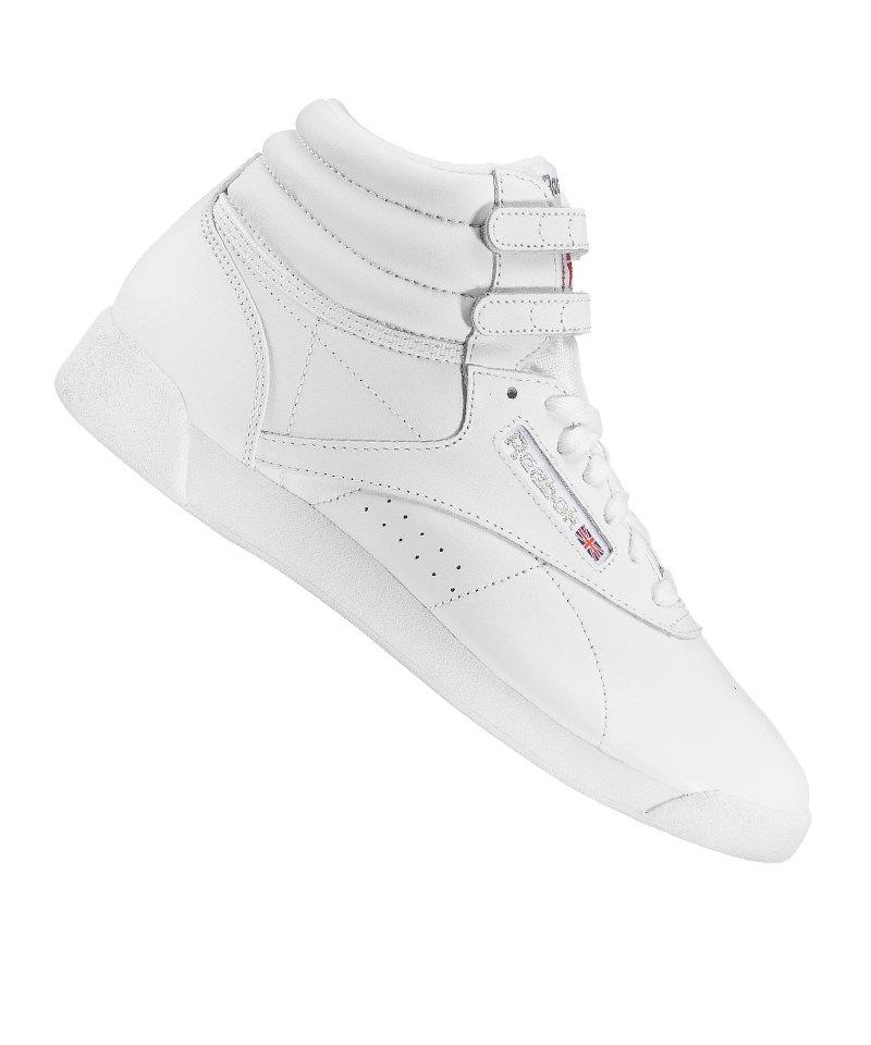 Reebok Weiss Hi Freestyle Sneaker Damen 354ALRqj